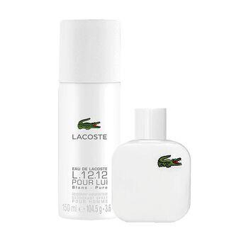 Набор (туалетная вода 50 мл + дезодорант-спрей 150 мл) Lacoste L 12 12 Blanc
