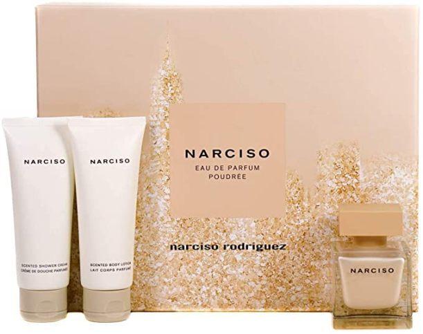 Набор (парфюмерная вода 50 мл + лосьон для тела 75 мл + крем для душа 75 мл) Narciso Rodriguez Narciso Poudree